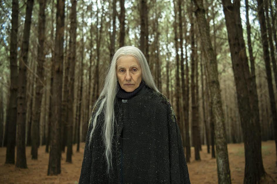 Haia ( Cassia Kis ) caminha pela floresta